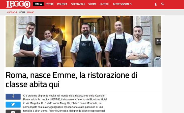 Roma, nasce Emme, la ristorazione di classe abita qui