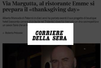 Via Margutta, al ristorante Emme si prepara il «thanksgiving day»