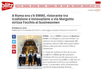 A Roma ora c'è EMME, ristorante tra tradizione e innovazione a via Margutta strizza l'occhio ai businessmen