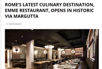 Rome's latest culinary destination, Emme Restaurant, opens in historic via Margutta
